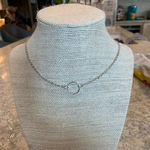 SILVER RING BRANDY MELVILLE CHOKER NECKLACE